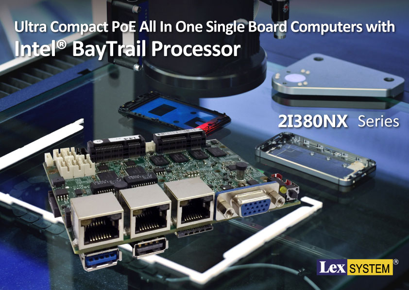 2I380NX - Ultra Compact PoE All In One Single Board Computers with Intel® BayTrail Processor