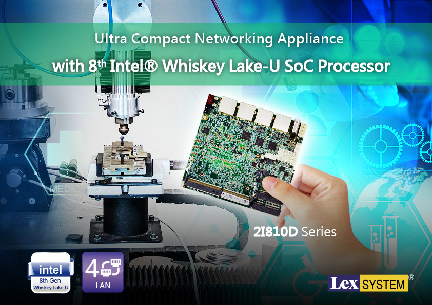 2I810D - Ultra Compact Networking Appliance with 8th Intel® Whiskey Lake-U SoC Processor