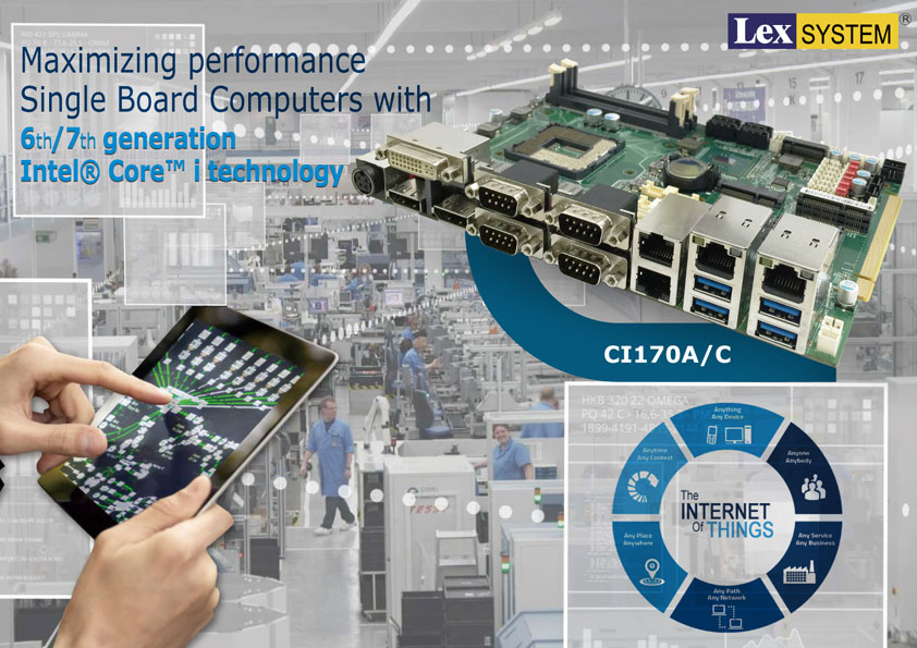 CI170A/ CI170C - Maximizing performance Single Board Computers with 6th/7th generation Intel® Core™ i technology